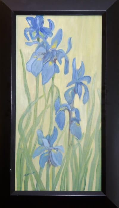 """Blue Flags"" by June Corkum"